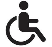 Der Inhaber oder die Inhaberin des Passes ist überwiegend auf den Gebrauch eines Rollstuhles angewiesen.