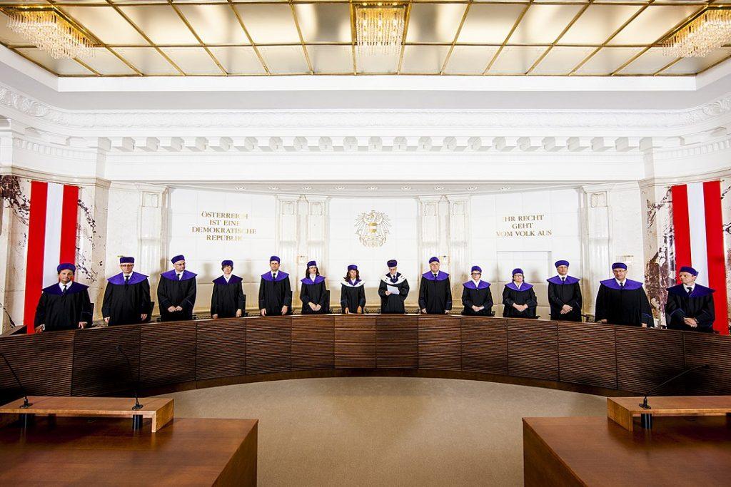 Verhandlungssaal des Verfassungsgerichtshofs, Foto: VfGH/Achim Bieniek