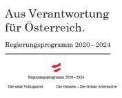 Aus Verantwortung für Österreich. Regierungsprogramm 2020–2024
