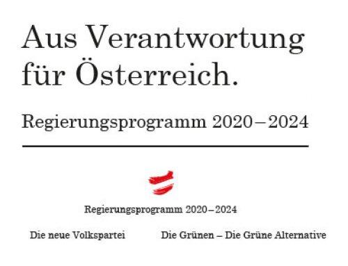 Regierungsprogramm 2020 bis 2024