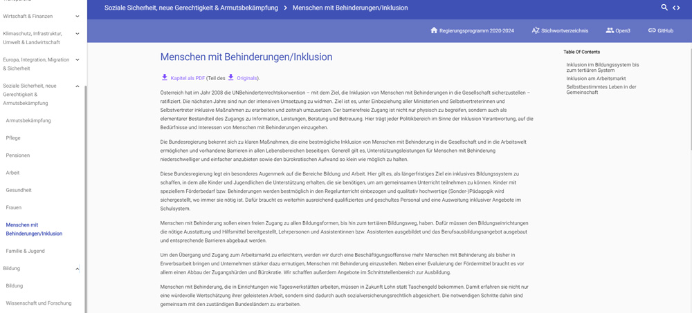 Regierungsprogramm 2020-2024 (barrierefrei und maschinenlesbar)
