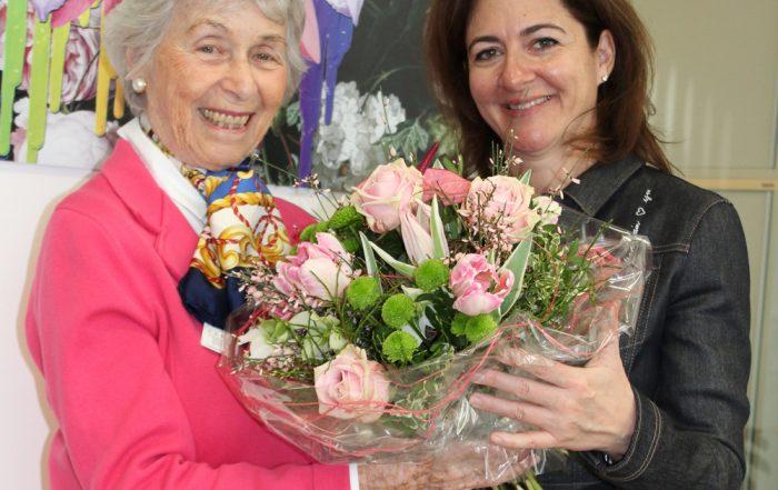 Doris Granger und die Präsidentin der MS-Gesellschaft Wien, Univ.-Prof. Dr. Barbara Kornek