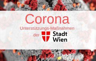 Corona-Virus: Unterstützungs-Maßnahmen der Stadt Wien