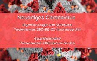 Corona-Hotlines