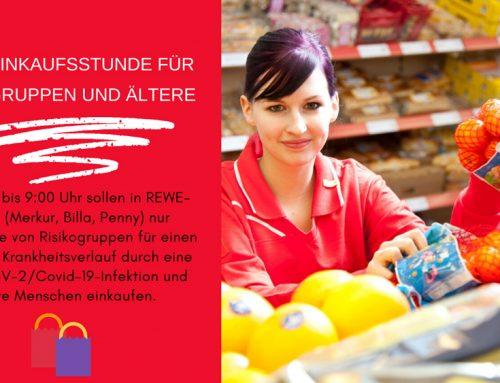 Rewe-Einkaufsstunde für Risikogruppen und Ältere