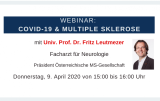 Webinar COVID-19 und MS mit Univ. Prof. Dr. Fritz Leutmezer