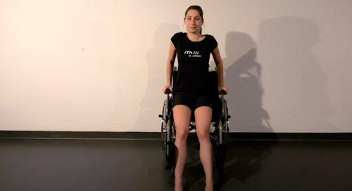 Kraft-Übung: Liegestütz sitzend, Credit: Special Olympics Österreich