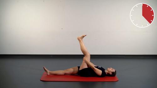 Beweglichkeits-Übung: Ischiocrural im Liegen