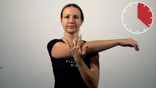 Beweglichkeits-Übung: Schulter-Adduktion