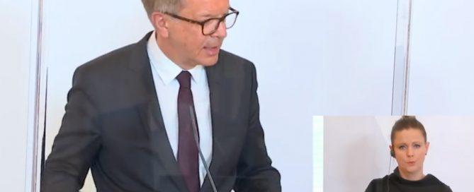 Screenshot Pressekonferenz Gesundheitministerium, 21.04.2020