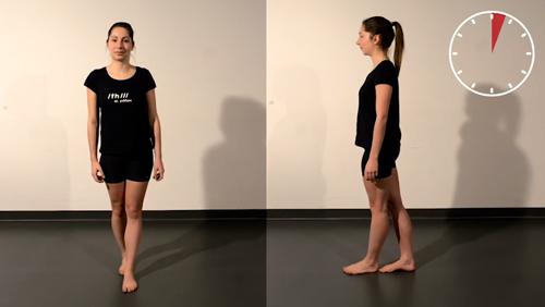 Gleichgewichts-Übung: Tandemstand