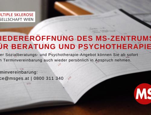 Wiedereröffnung des MS-Zentrums für Beratung und Psychotherapie
