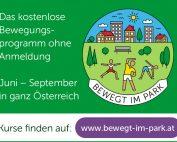 """Projektlogo """"Bewegt im Park"""", Credit: Dachverband der Sozialversicherungsträger"""