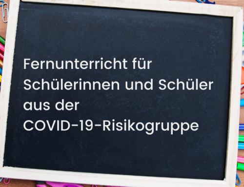 Fernunterricht für Angehörige aus der COVID-19-Risikogruppe