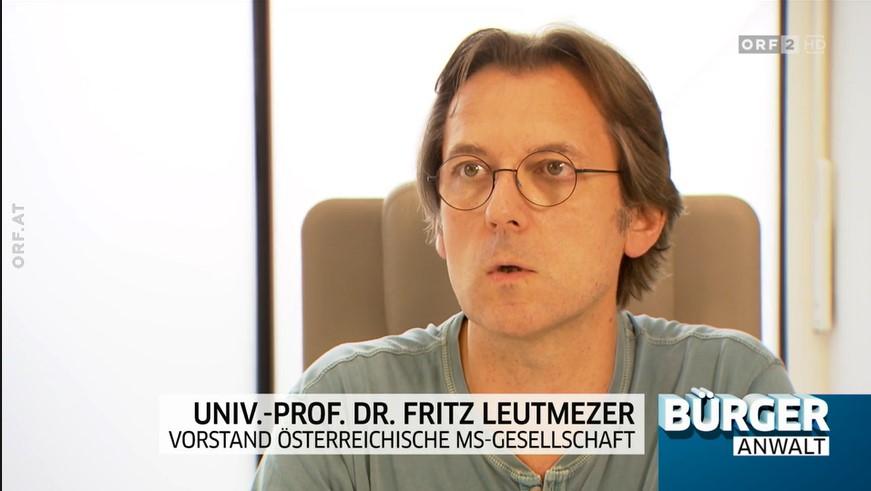 Univ. Prof. Dr. Fritz Leutmezer in der ORF 2-Sendung Bürgeranwalt vom 26.9.2020, Screenshot, Copyright: ORF