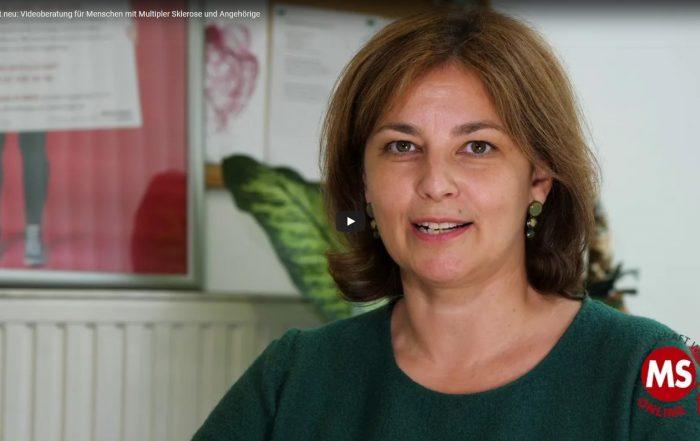 Im Video erklärt Sandra Skrebic, B.Sc., DGKP, das Videoberatungsangebot der MS-Gesellschaft Wien.