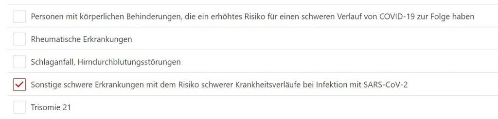 Screenshot Impf-Anmeldung Salzburg