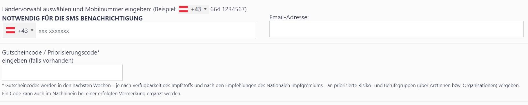 Corona-Schutzimpfungs-Vormerkung in Vorarlberg