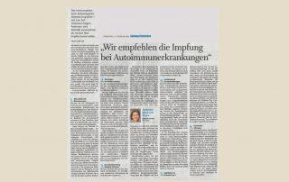 Interview mit Univ. Prof. Dr. Barbara Kornek, Fachärztin für Neurologie an der Medizinischen Universität Wien und Präsidentin der Multiple Sklerose Gesellschaft Wien, in den Salzburger Nachrichten vom 9. Februar 2021