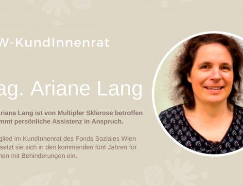 Ariane Lang im FSW-KundInnenrat vertreten