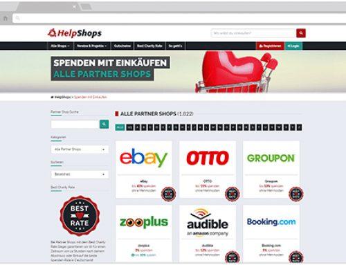 Spenden mit Einkäufen in Partner-Shops