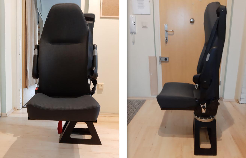 Behindertengerechter Beifahrersitz