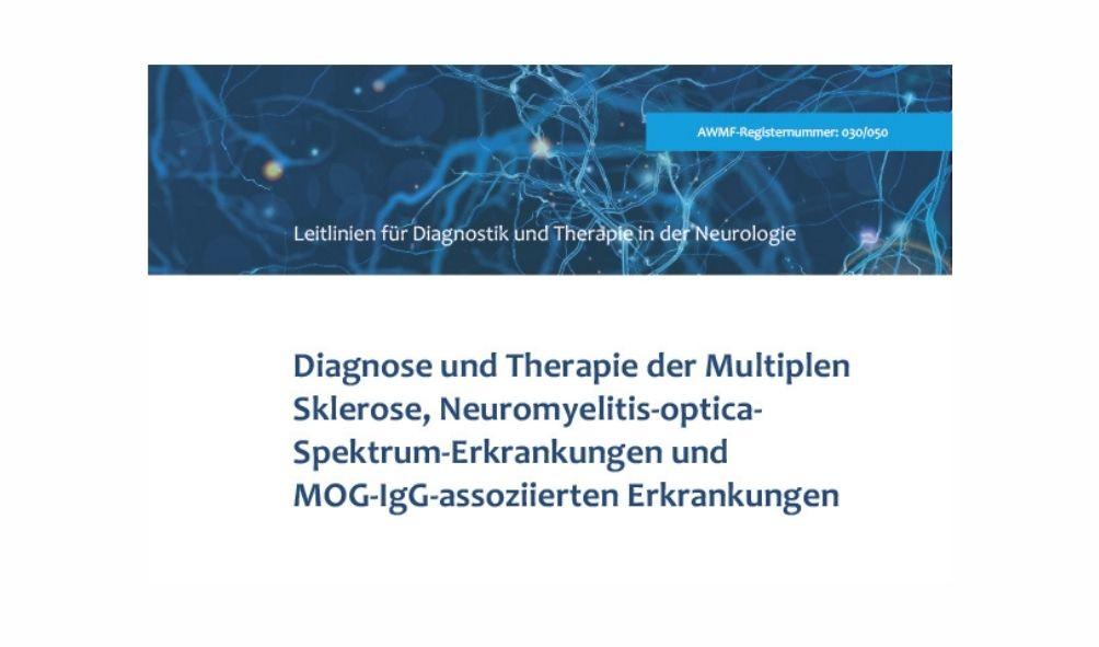 aktualisierte und erweiterte S2k-Leitlinie der DGN zur Diagnostik und Therapie der Multiplen Sklerose (MS), Credit: Detusche Geselslchaft für Neurologie