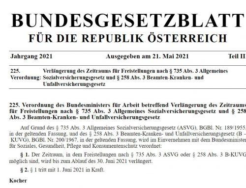 Risikogruppen-Verordnung bis 30. Juni verlängert