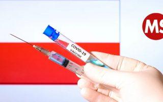 Covid-Impfung und Logo MS-Gesellschaft Wien