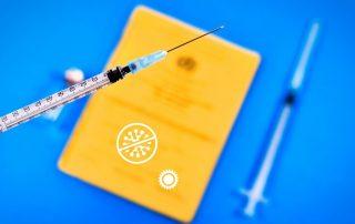Impfpass und Spritze, Credit: Canva